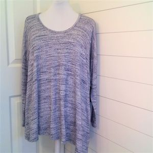 NYDJ Asymmetrical Hem Long Sleeve Soft Tee NWT M